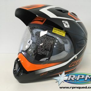 Casque KENNY Extreme Graphic Noir/Orange Fluo L