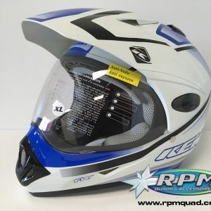Casque KENNY Extrem graphic Blanc/Bleu XL